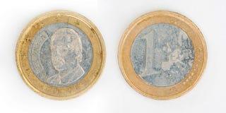 3 d 1 euro przedmiot odizolowane Obrazy Stock