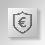 3D Euro security icon Business Concept Royalty Free Stock Images