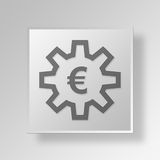 3D Euro settings icon Business Concept Royalty Free Stock Photography