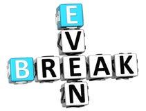 3D Even Break Crossword. On white background Stock Photos