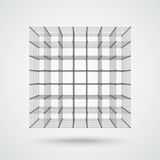 3d Even Cube Connected Dots Stock Images