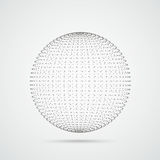 3d Even Sphere Dots Royalty Free Stock Images