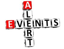 3D Events Alert Crossword. On white background Stock Photography