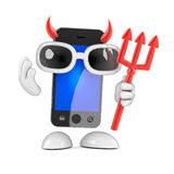 3d Evil smartphone Royalty Free Stock Photos