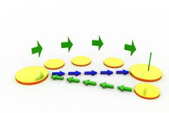 3d exchange paths concept Royalty Free Stock Photography