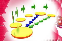 3d exchange paths illustration Stock Photography