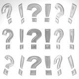 3D exclamación Mark And Question Mark Imagen de archivo libre de regalías
