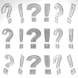 3D Exclamation Mark And Question Mark Royalty Free Stock Image