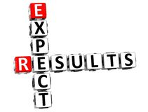 3D Expect Results Crossword Stock Image