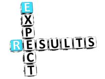 3D Expect Results Crossword Stock Photo