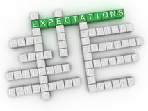 3d  Expectations word cloud concept Royalty Free Stock Photography