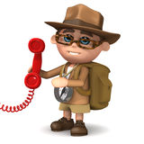 3d Explorer answers the phone Stock Images