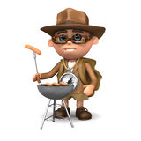 3d Explorer barbecue Royalty Free Stock Image