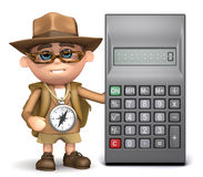 3d Explorer calculator Royalty Free Stock Images