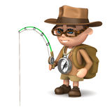 3d Explorer fishing Stock Images