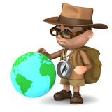 3d Explorer globe Stock Photos