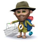 3d Explorer goes shopping Stock Photos