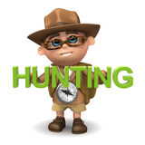 3d Explorer hunting Stock Photo
