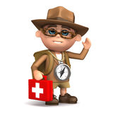 3d Explorer medic Stock Photography
