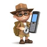 3d Explorer mobile phone Stock Photo