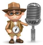 3d Explorer radio mic vector illustration