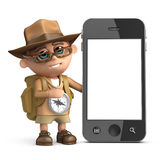 3d Explorer smartphone Royalty Free Stock Images