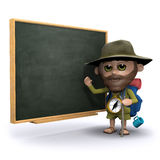 3d Explorer teaches at the blackboard Stock Images