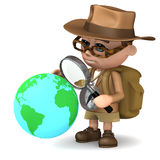 3d Explorer world Royalty Free Stock Photography