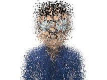 3D explosie van het Beeldverhaalkarakter Royalty-vrije Stock Foto