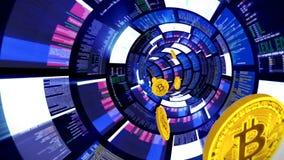 3D explotación minera dentro del ordenador, lazo posterior de los movimientos stock de ilustración