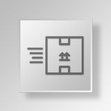 3D Express Delivery Button Icon Concept Stock Photo