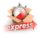 3d express delivery concept Stock Photography