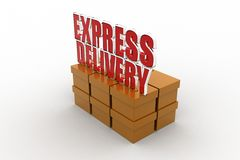 3d express delivery Stock Photo