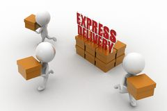 3d express delivery Royalty Free Stock Image