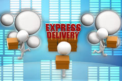 3d express delivery illustration Royalty Free Stock Photo