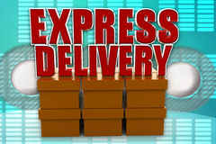 3d express delivery illustration Royalty Free Stock Photography