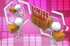 3d express delivery illustration Royalty Free Stock Photos