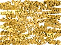 3d exprime - termos da contabilidade - o ouro Fotografia de Stock Royalty Free
