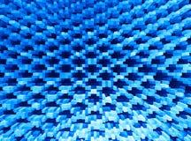 3d a expulsé fond bleu d'illustration de blocs illustration stock