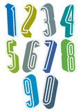 3d extra tall numbers set made with round shapes. Stock Photo
