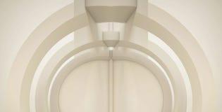 3d, extracto, arco, arquitectura, arte, fondo, espacio en blanco, azul, caja, columna, hormigón, construcción, deco, diseño, exhi ilustración del vector