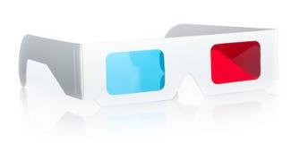 3d eyeglasses. 3d Anaglyph eyeglasses isolated on white background stock image