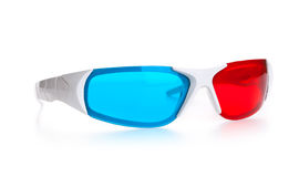 3d eyeglasses. 3d Anaglyph eyeglasses isolated on white background royalty free stock image