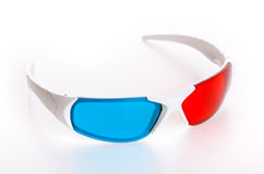 3d eyeglasses. 3d Anaglyph eyeglasses isolated on white background royalty free stock photography