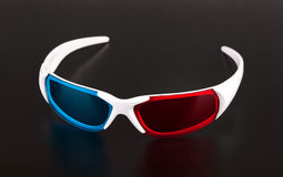 3d eyeglasses. 3d Anaglyph eyeglasses isolated on white background stock photography