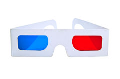 3d eyeglasses. On white background stock photo