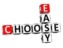 3D fáceis escolhem palavras cruzadas Fotografia de Stock Royalty Free
