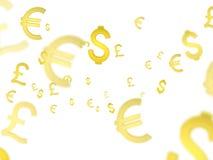 3d färgade för hög symboler för upplösning illustrationbild för valuta mång- Arkivfoton