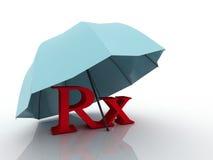 3d för apotekläkarundersökning för imagen RX symbol Arkivbild