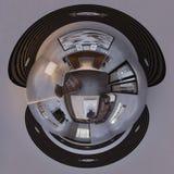3d för panoramavardagsrum för illustration 360 sfärisk sömlös design Arkivfoto